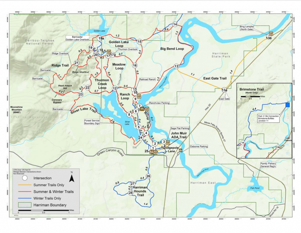 Harriman | Idaho Parks & Recreation with Hells Gate State Park Trail Map