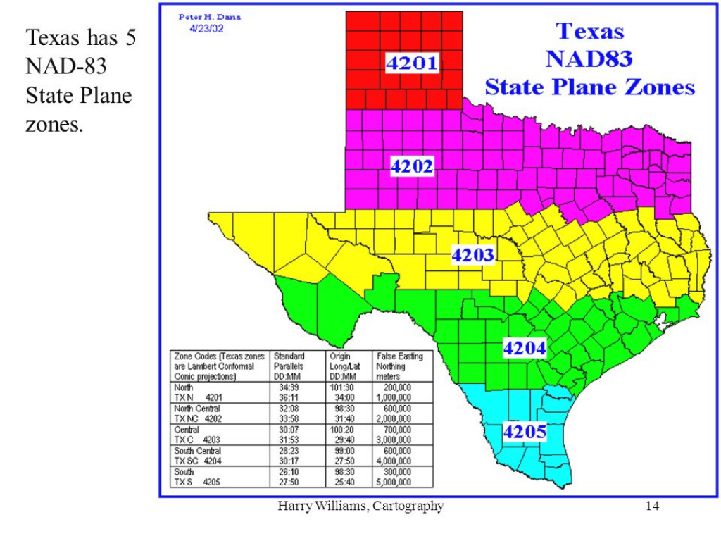 Harry Williams, Cartography - Ppt Download with regard to Texas State Plane Coordinate Map