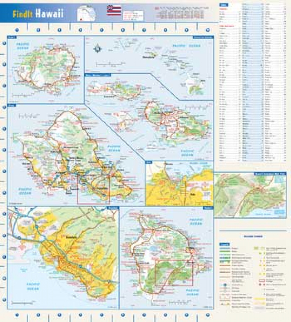 Hawaii State Wall Map : National Geographic | The Chart & Map Shop in State Wall Maps