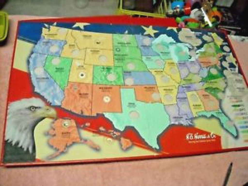 He Harris & Co. State Series Quarters Collector's Map 1999 To 2008 pertaining to State Series Quarters Collector Map