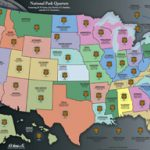 He Harris National Park Quarters Traditional Collector Map With Regard To State Series Quarters Collector Map