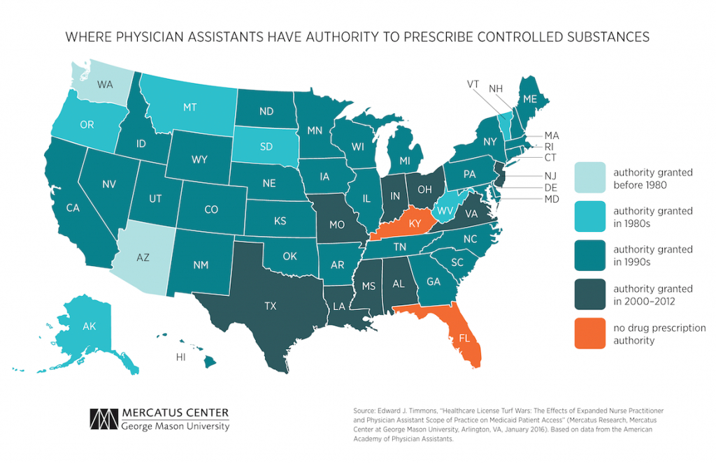 Healthcare License Turf Wars: The Effects Of Expanded Nurse regarding Nurse Practitioner Prescriptive Authority By State Map