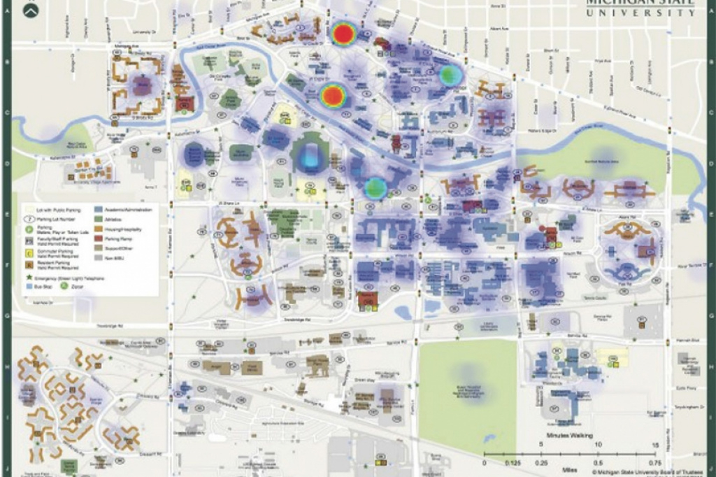 Heat Maps' Give Michigan State A New View Of Campus Climate - The for Montclair State University Campus Map