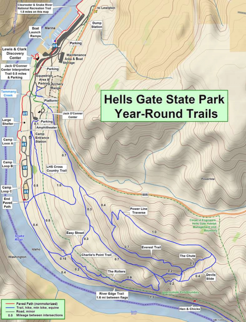 Hells Gate State Park - Trailmeister with Hells Gate State Park Trail Map