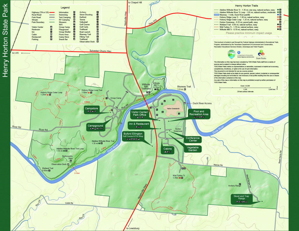 Henry Horton State Park — Tennessee State Parks intended for Tennessee State Parks Map