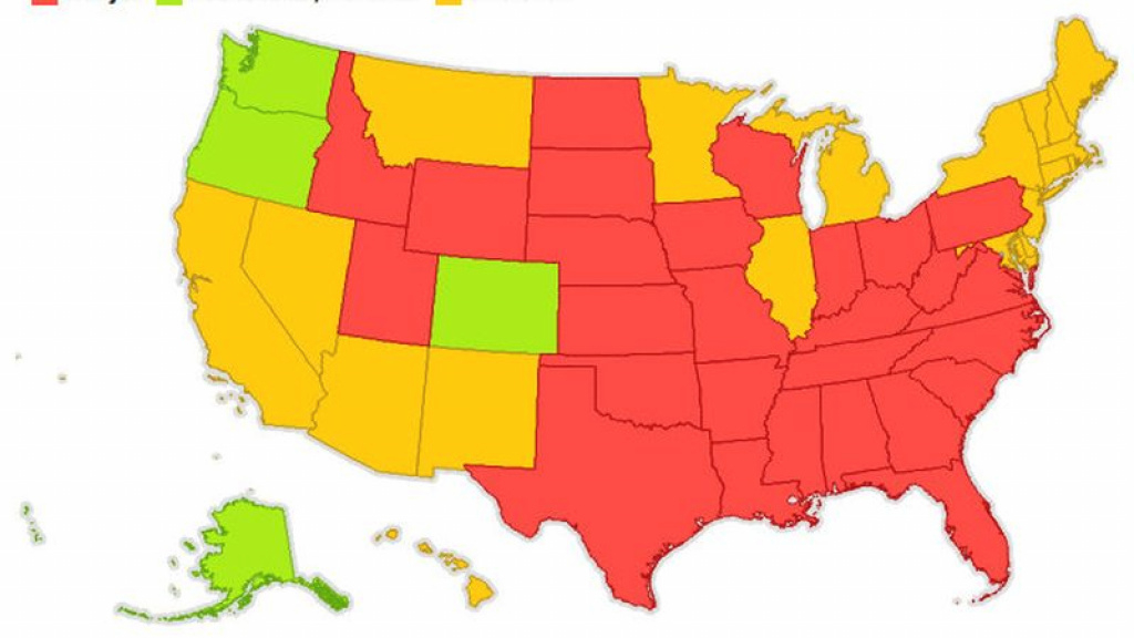 Here's A Map Of Every State And Their Marijuana Laws intended for States That Legalized Recreational Weed Map