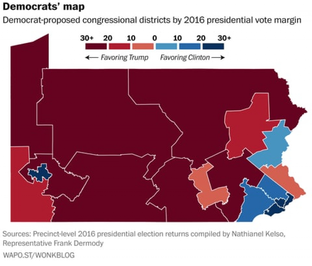 Here's How Pennsylvania Democrats' Congressional Map Proposal Stacks with regard to Washington State Presidential Election Map