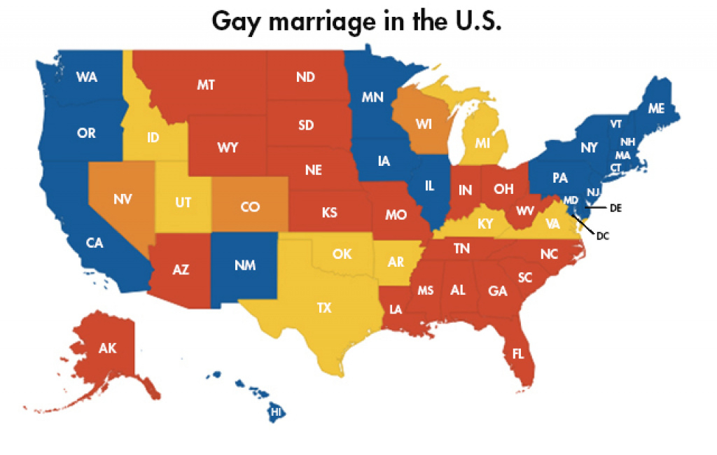 Here's The Status Of Gay Marriage In Every State – Las Vegas Review within Gay Marriage By State Map 2014