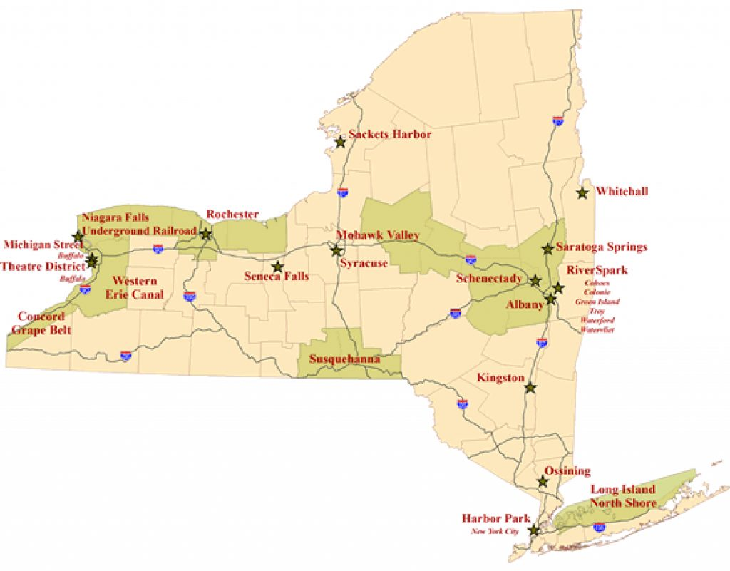 Heritage Areas   Nys Parks, Recreation & Historic Preservation Intended For New York State Parks Map
