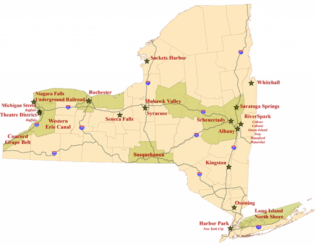 Heritage Areas - Nys Parks, Recreation & Historic Preservation intended for New York State Parks Map