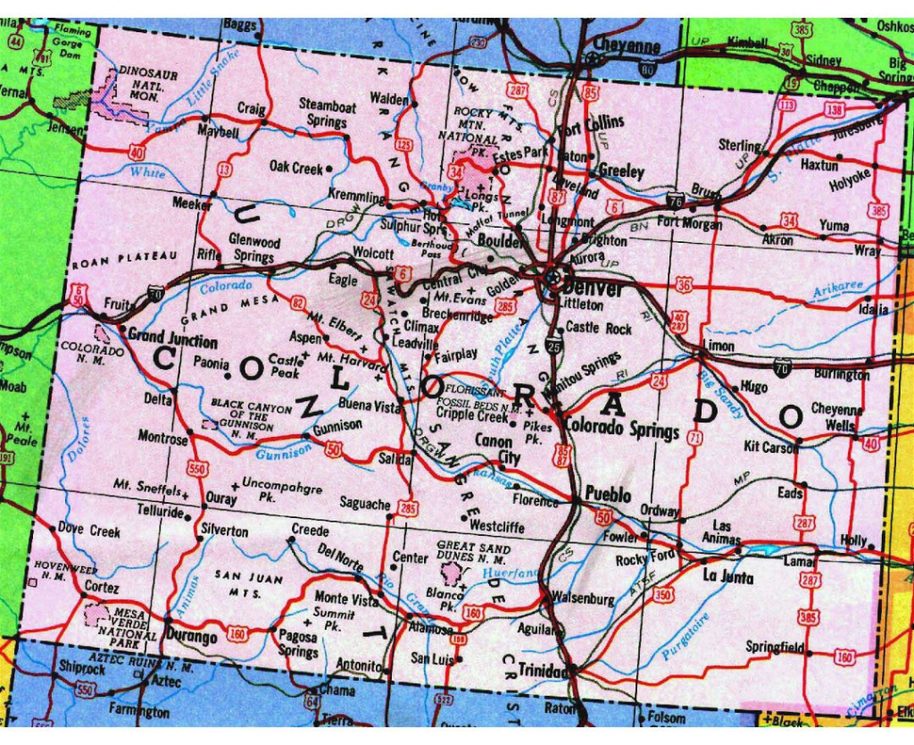 Highways Map Of Colorado State Preview Colorado Highway Map in Picture Of Colorado State Map