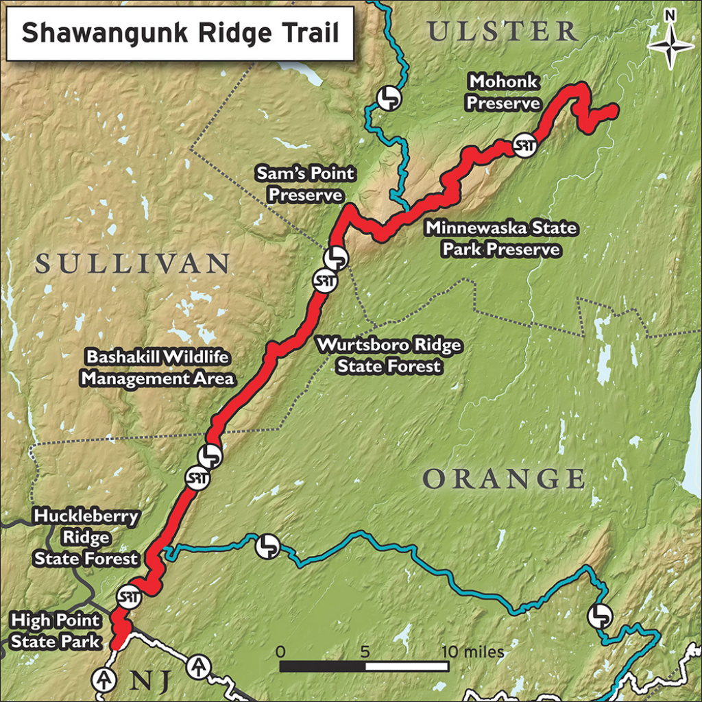 Hike The Shawangunk Ridge Trail | Trail Conference with Minnewaska State Park Trail Map