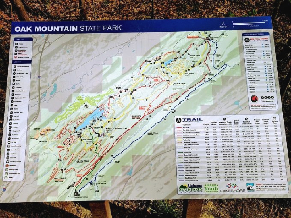 Hiking To King's Chair In Oak Mountain State Park, Alabama - No Home regarding Oak Mountain State Park Trail Map