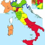 Hisatlas   Map Of Italy 1815 1828 With Italian States Map