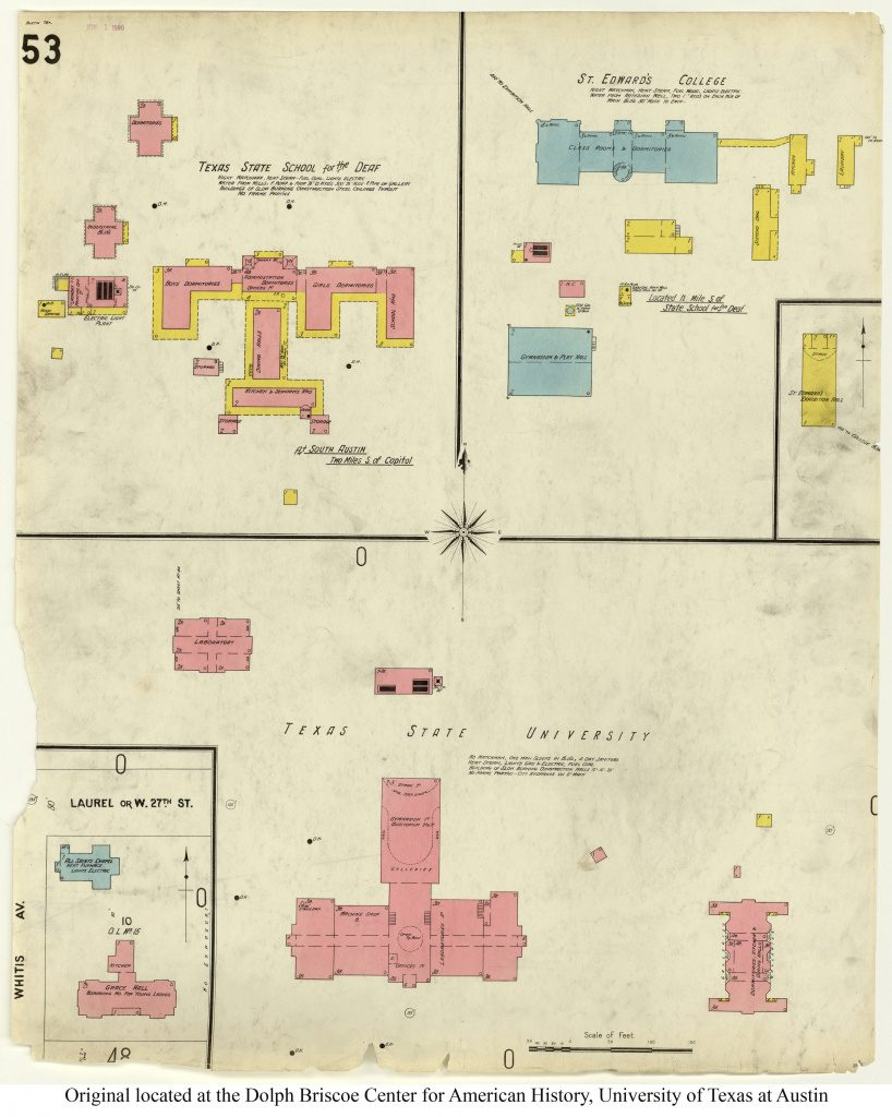 Historical Campus Maps University Of Texas At Austin   Perry With Regard To Wichita State University Campus Map Pdf