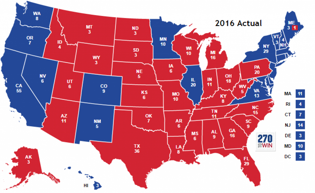 Historical Presidential Election Map Timeline intended for States Electoral Votes 2016 Map