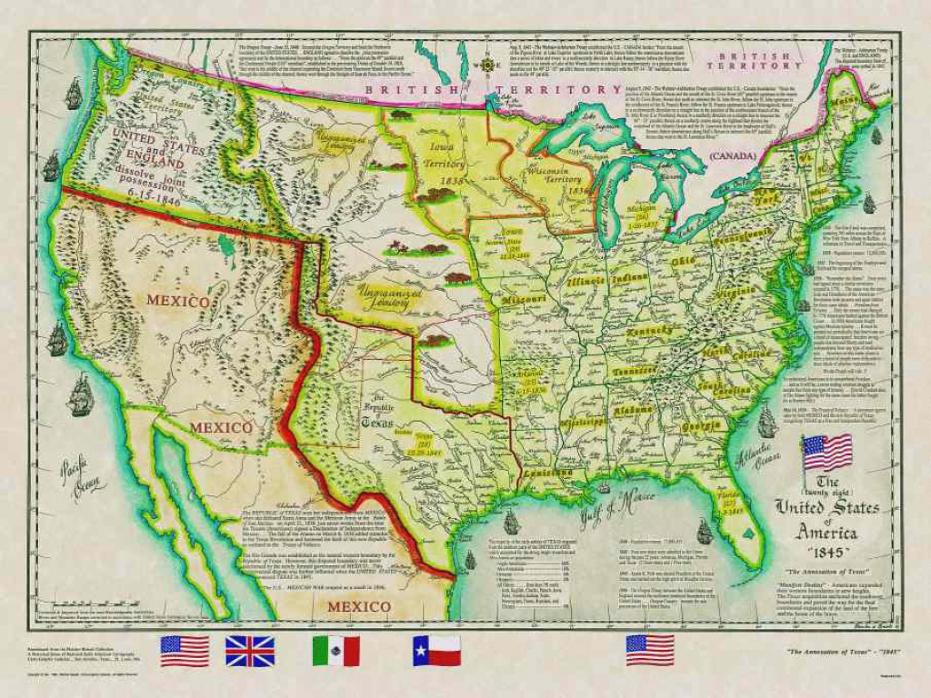 Historical Texas Maps, Texana Series intended for Map Of United States 1845