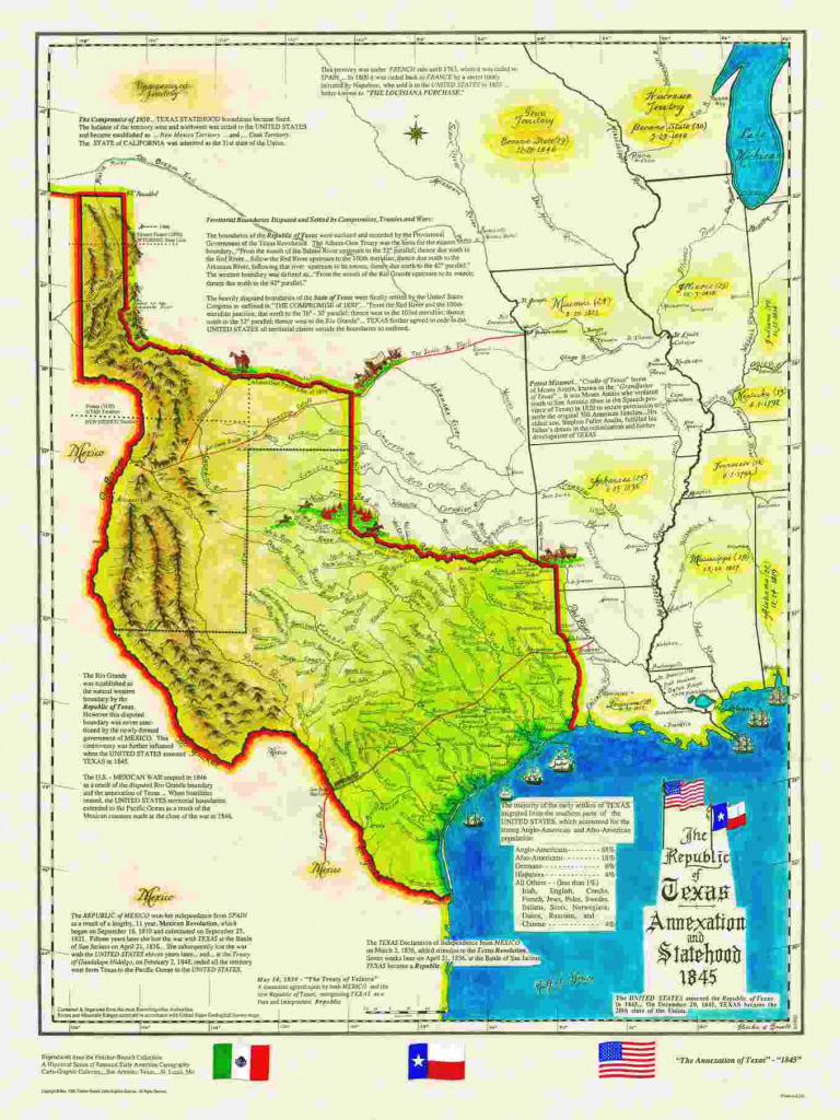 Historical Texas Maps, Texana Series pertaining to Map Of United States 1845