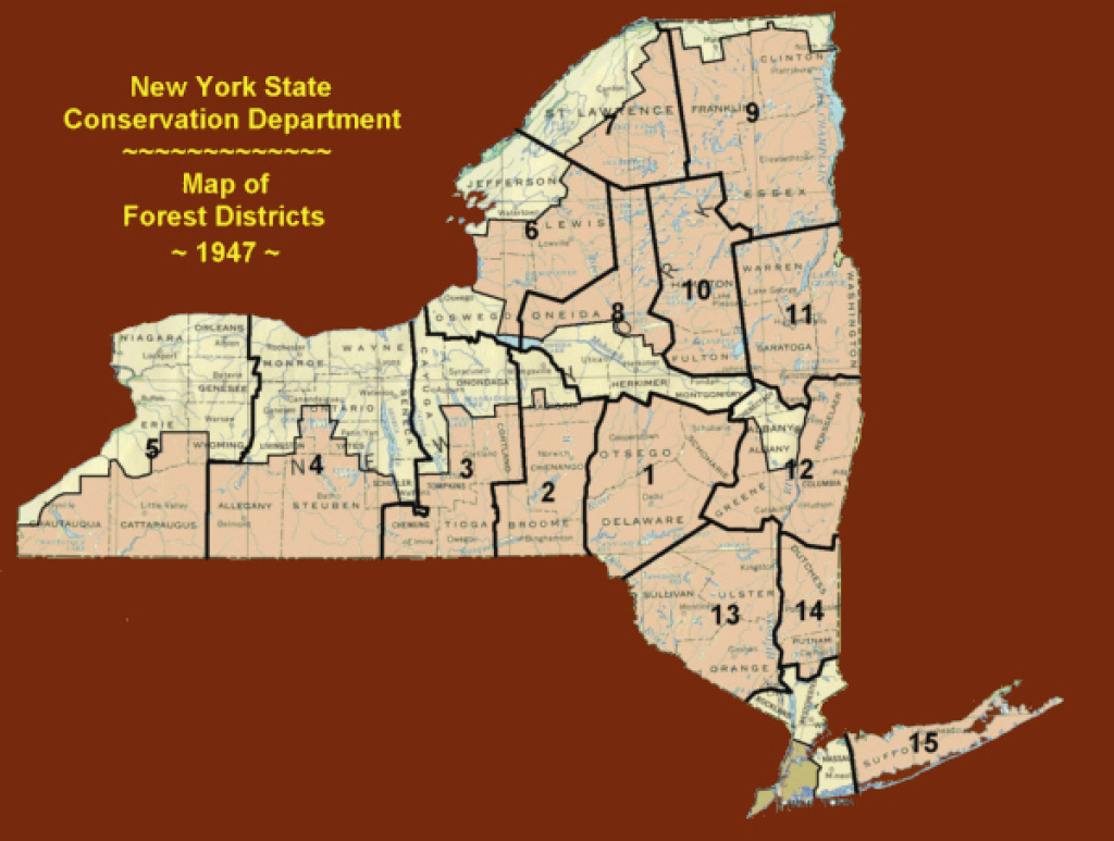 History - Part 4 - Nysfr's - 1947 To 1970 regarding New York State Forests Map