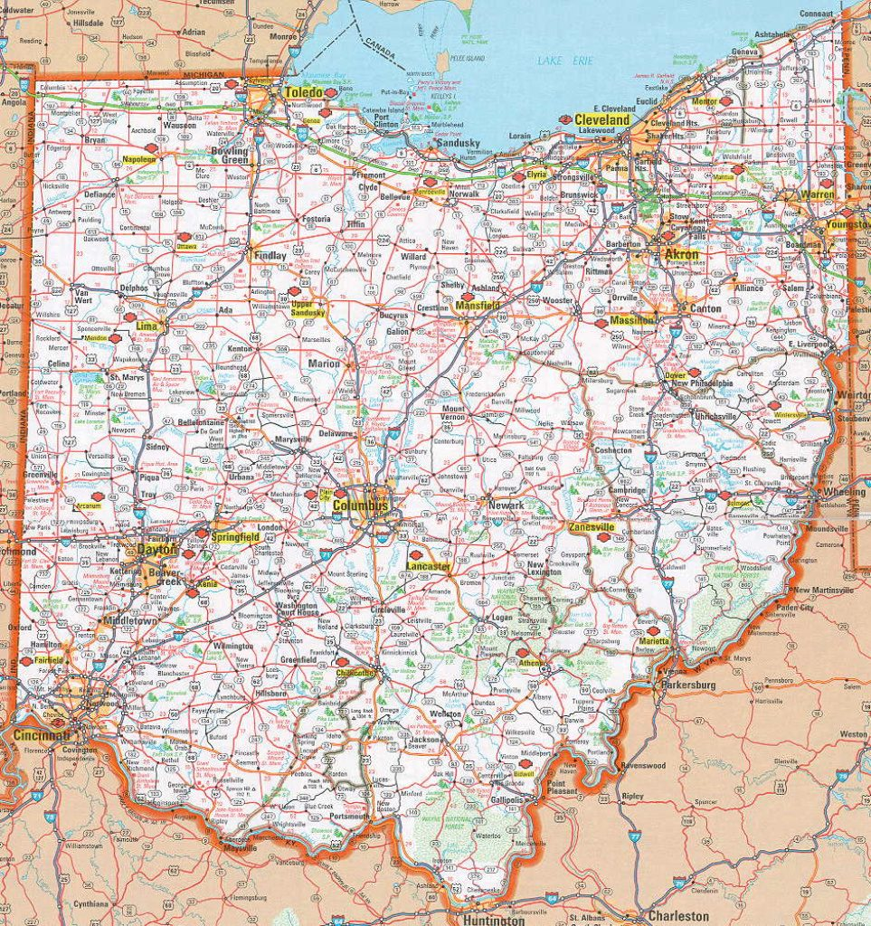 Hognews   State Pages   Ohio Inside Ohio State Road Map