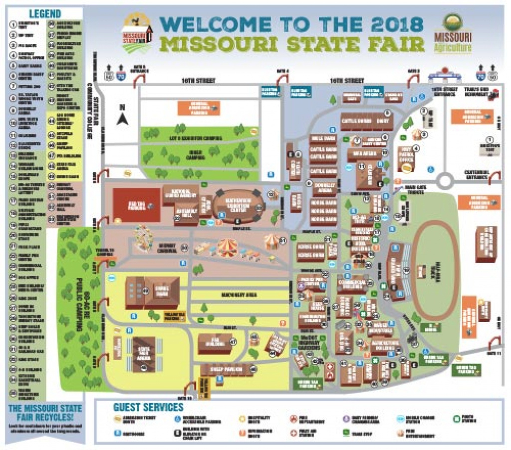 Hours, Map & Directions – Missouri State Fair with Missouri State Parking Map