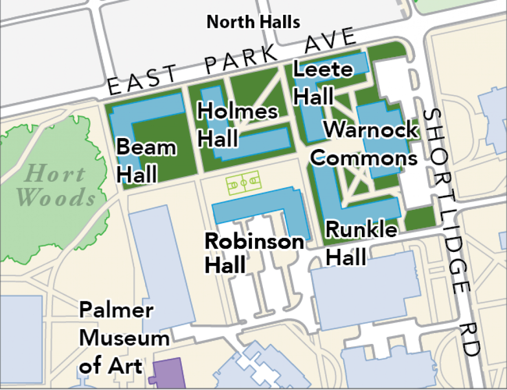 Housing Area Maps | Penn State University Park Housing inside Penn State Parking Lot Map