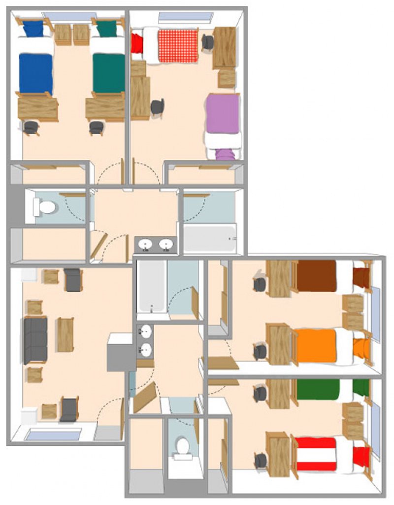 Housing Services | Zinfandel Village Furnishings & Dimensions throughout Sonoma State University Housing Map