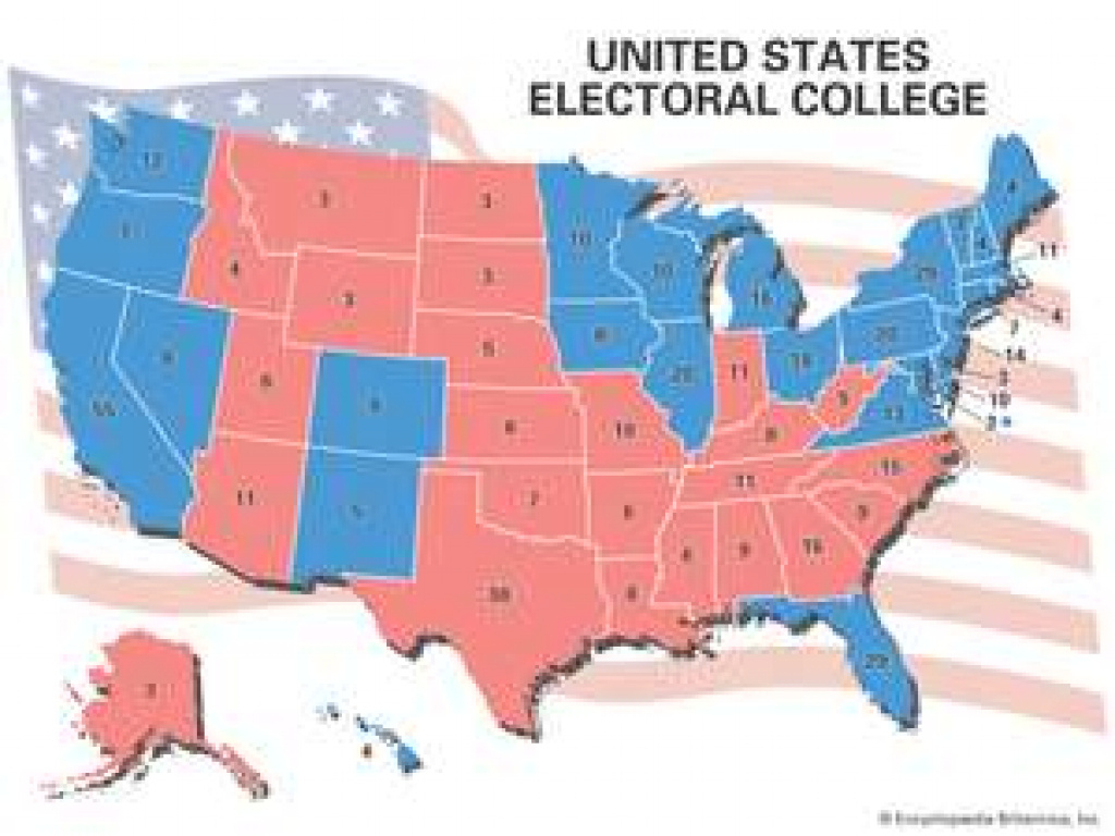 How Does The Electoral College Work? | Britannica for Map Of States And Electoral Votes