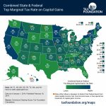 How High Are Capital Gains Tax Rates In Your State?   Tax Foundation Inside Us State Tax Map