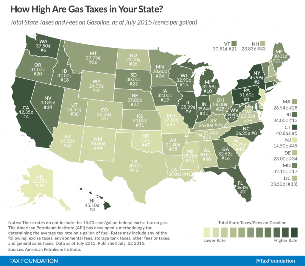 How Maine's Gas Taxes Compare With All The Other States | Mapped with regard to Us State Tax Map