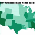 How Many States Has The Average American Visited? | Livability Pertaining To States I Ve Visited Map