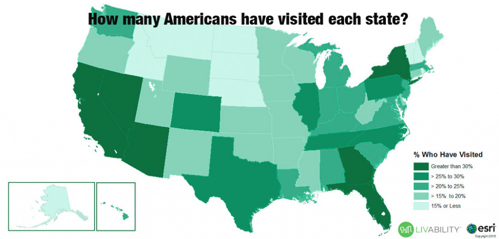 How Many States Has The Average American Visited? | Livability with regard to What States Have I Been To Map