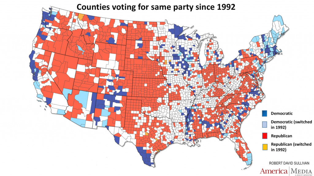 How The Red And Blue Map Evolved Over The Past Century | America intended for Republican States Map