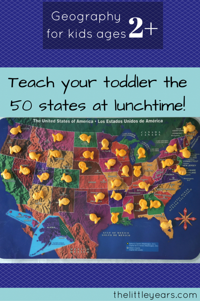 How To Teach Your Two-Year Old All 50 States - Geography For pertaining to How To Learn The 50 States On A Map