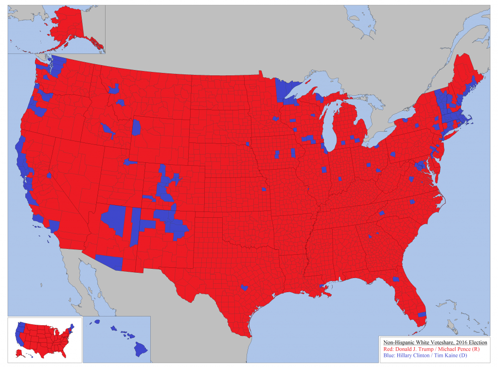 How Whites Voted In The 2016 Us Presidential Electionstate for States Hillary Won Map