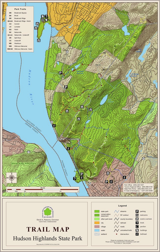 Fahnestock State Park Trail Map