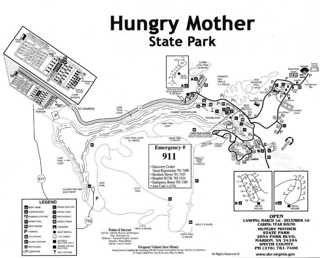 Hungry Mother Sp throughout Hungry Mother State Park Trail Map