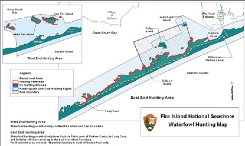 Hunting - Fire Island National Seashore (U.s. National Park Service) regarding Hunting Island State Park Campsite Map