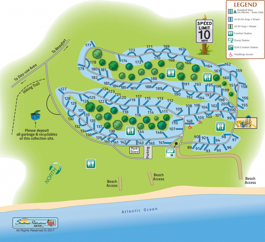 Hunting Island State Park In Hunting Island, South Carolina intended for Hunting Island State Park Campsite Map