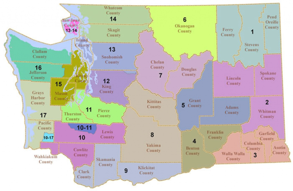 Hunting Prospectsdistrict | Washington Department Of Fish & Wildlife inside Washington State Legislative Map