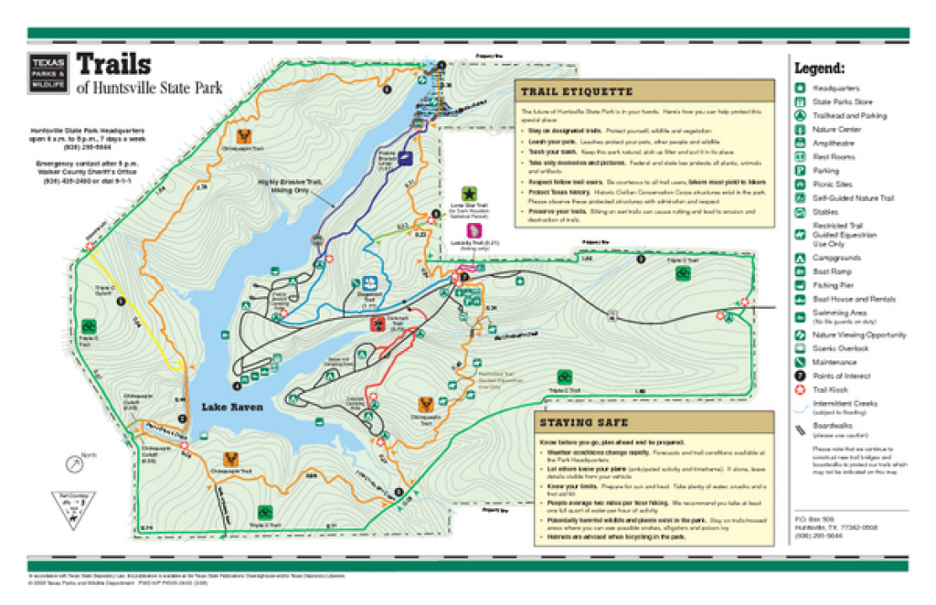 Huntsville Texas State Park Trail Map - Huntsville Texas State Park regarding Huntsville State Park Trail Map