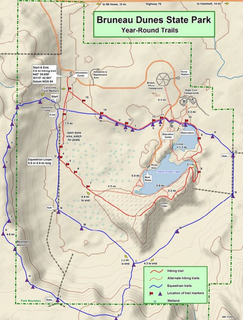 Idaho State Park Maps - Dwhike with regard to Idaho State Parks Map