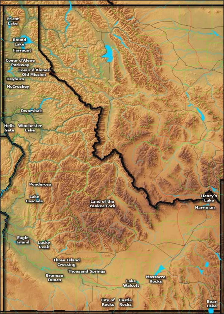 Idaho State Parks in Idaho State Parks Map