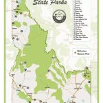 Idaho State Parks Map | Etsy Intended For Idaho State Parks Map