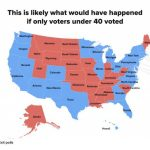 If Only People Under 40 Had Voted, Here's How The Electoral College Intended For States Trump Won Map