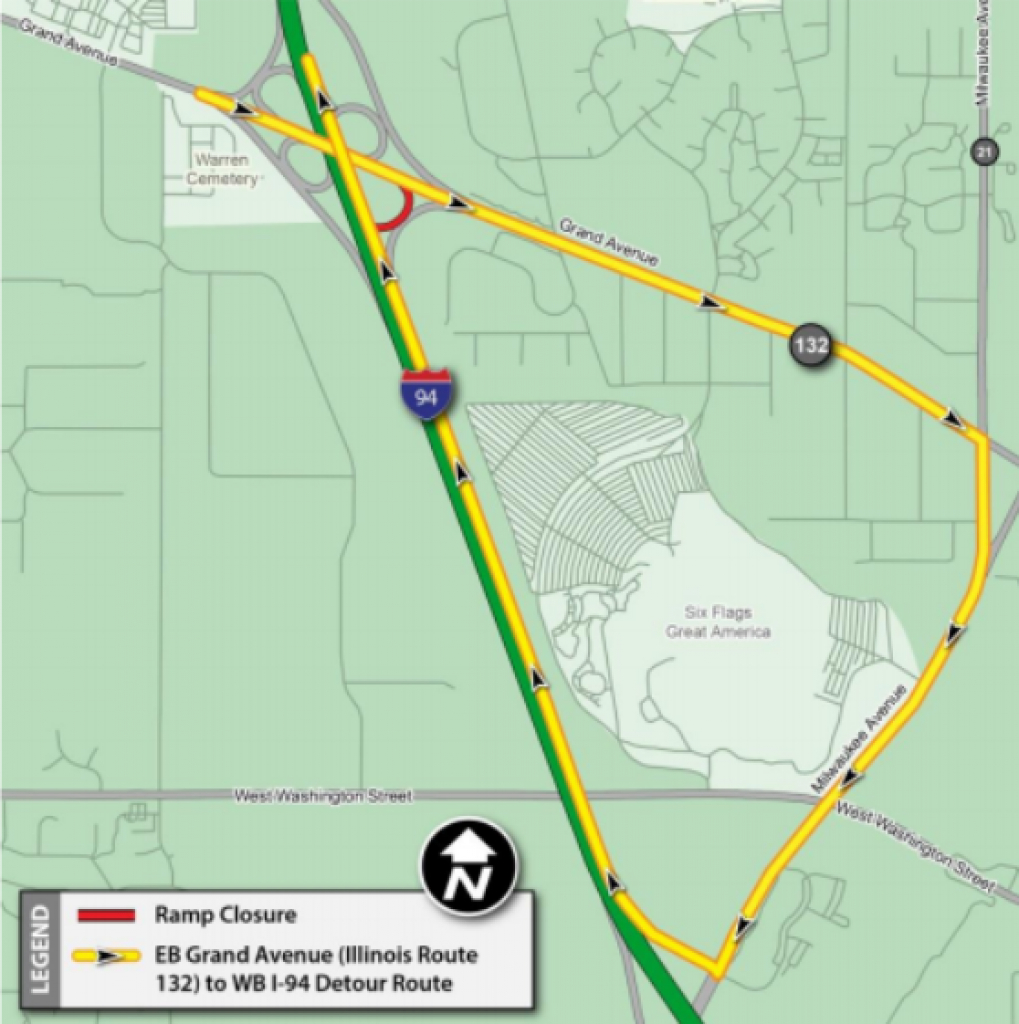 Ill. Tri-State Tollway/i-94 Updates Begin July 17, Will Continue in Tri State Road Map