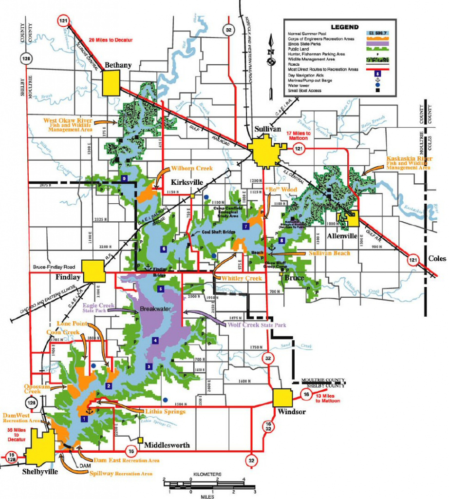 Illinois Campgrounds regarding Illinois State Campgrounds Map