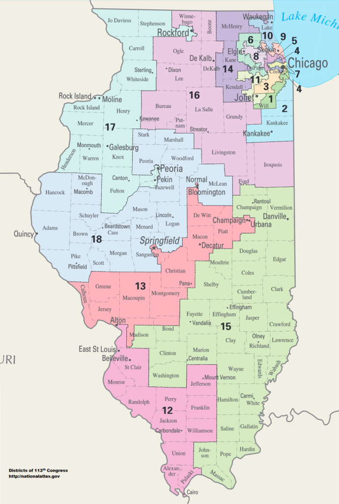 Illinois' Congressional Districts - Wikipedia in Illinois State Representative District Map