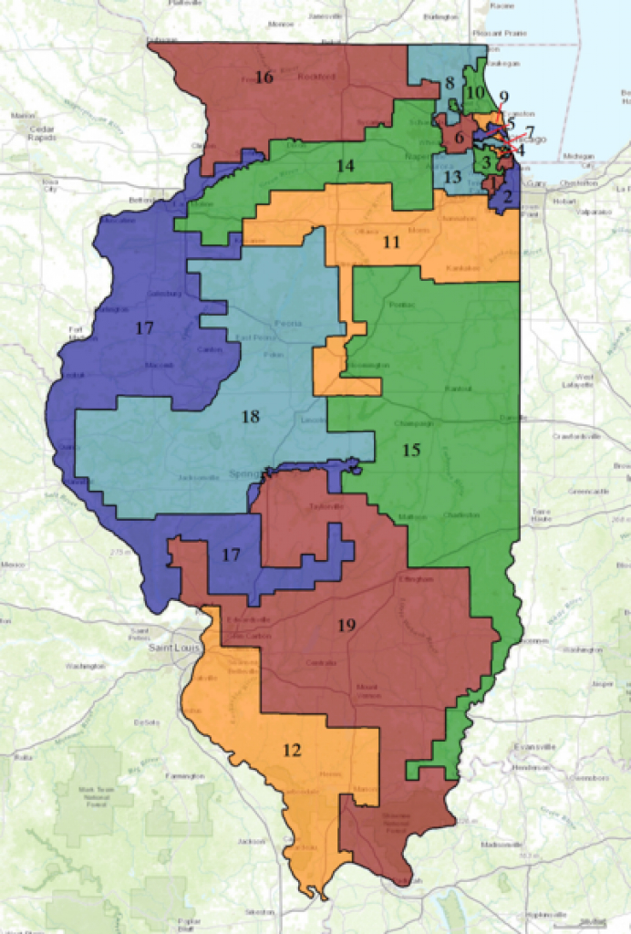 Illinois' Congressional Districts - Wikipedia with Illinois State Representative District Map