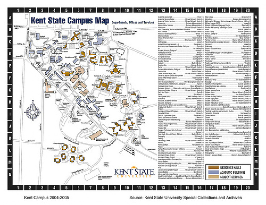 Image Gallery Kent State University Map intended for Kent State University Map Pdf